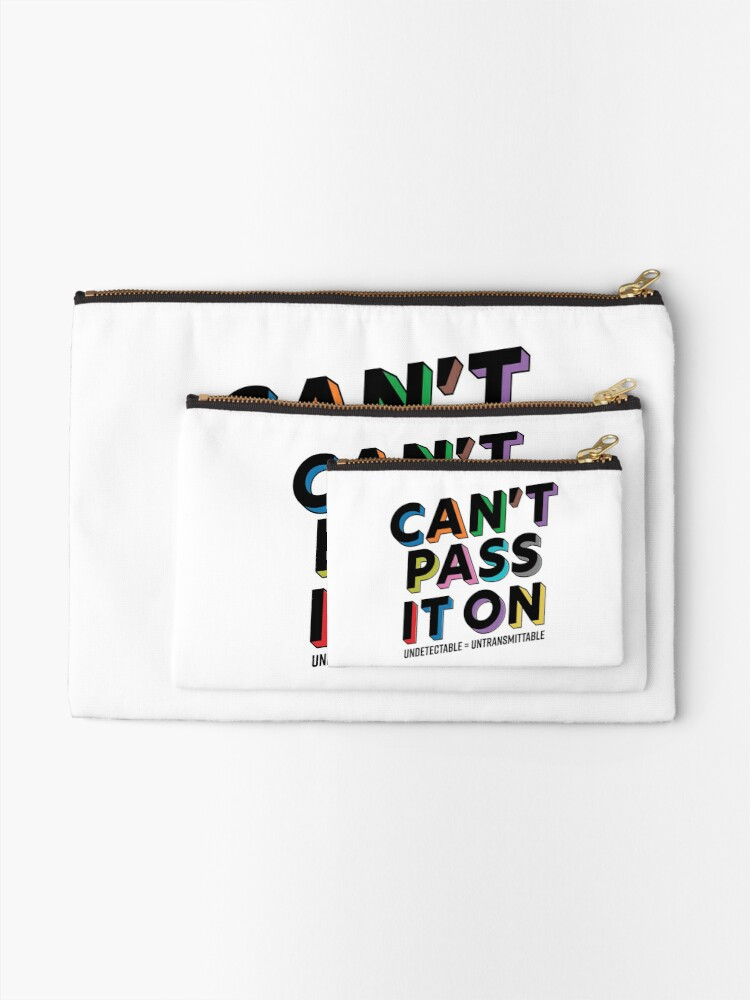 Alternate view of Can't Pass It On - U Equals U Zipper Pouch