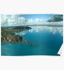 Breathtaking aerial view Poster