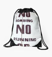 Behave Drawstring Bag