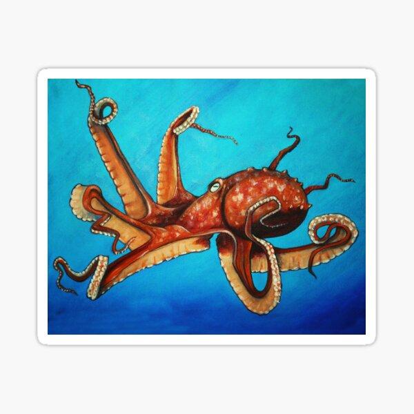 Red Octopus Sticker