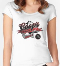 Coop's Diner Women's Fitted Scoop T-Shirt