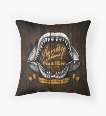 Amity Island Boat Hire Throw Pillow