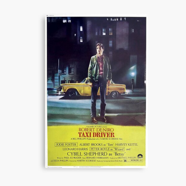 Classic Movie Poster - Taxi Driver Metal Print