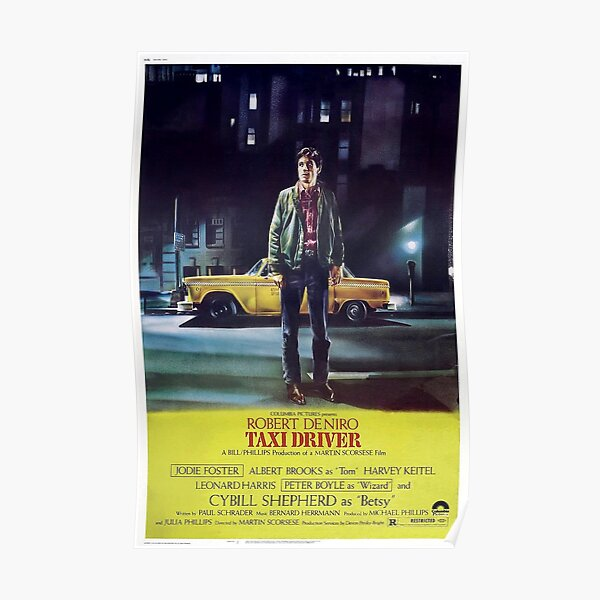 Classic Movie Poster - Taxi Driver Poster