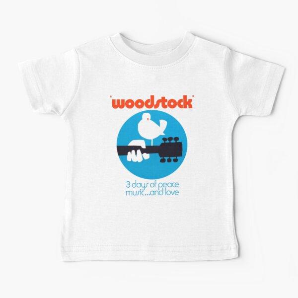Woodstock 1969 Peace Love Bird Poster White  Baby T-Shirt