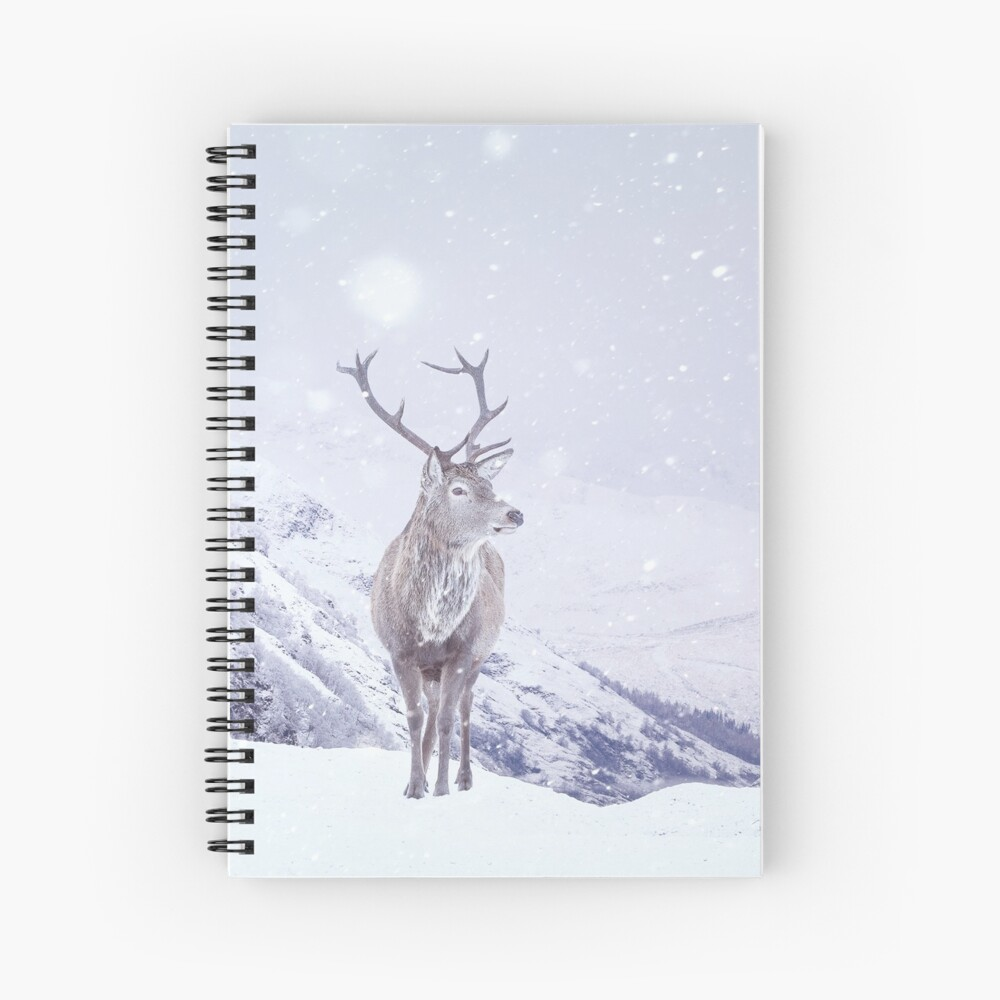 """Kingdom Of Winter"" by Cat Burton Spiral Notebook"