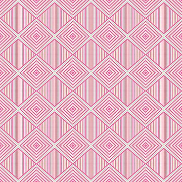 Geometric Hot Pink Pattern by YakutKeskin
