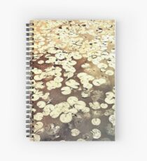 Golden Lily Pads - Art Photography - Nature Decor Spiral Notebook