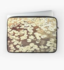Golden Lily Pads - Art Photography - Nature Decor Laptop Sleeve