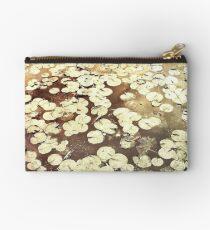 Golden Lily Pads - Art Photography - Nature Decor Studio Pouch