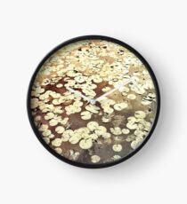 Golden Lily Pads - Art Photography - Nature Decor Clock