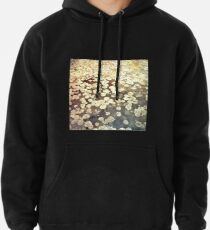 Golden Lily Pads - Art Photography - Nature Decor Pullover Hoodie