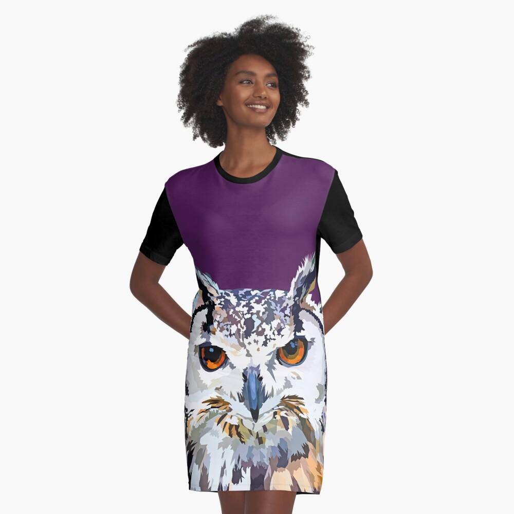 Owly nights Graphic T-Shirt Dress