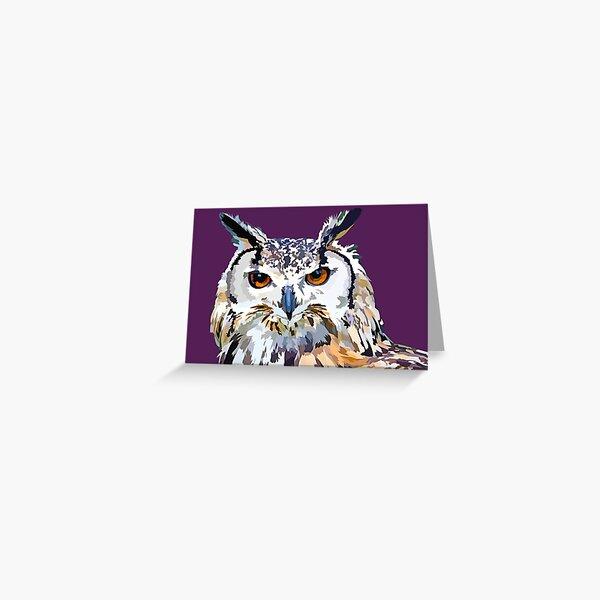 Owly nights Greeting Card