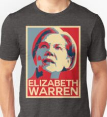 Elizabeth Warren Poster Slim Fit T-Shirt