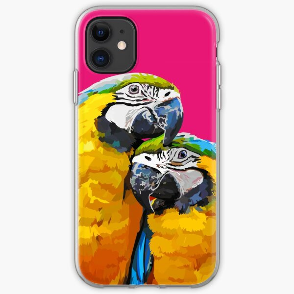 Two lovely parrots iPhone Soft Case