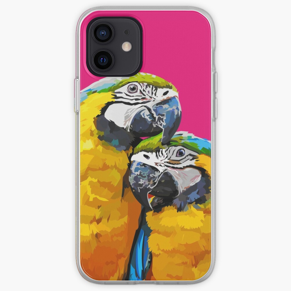 Two lovely parrots iPhone Case & Cover