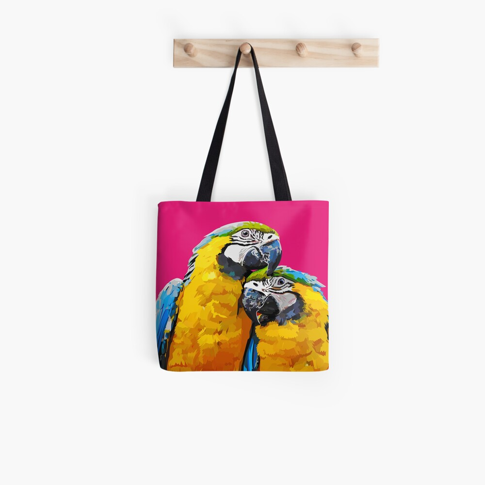 Two lovely parrots Tote Bag