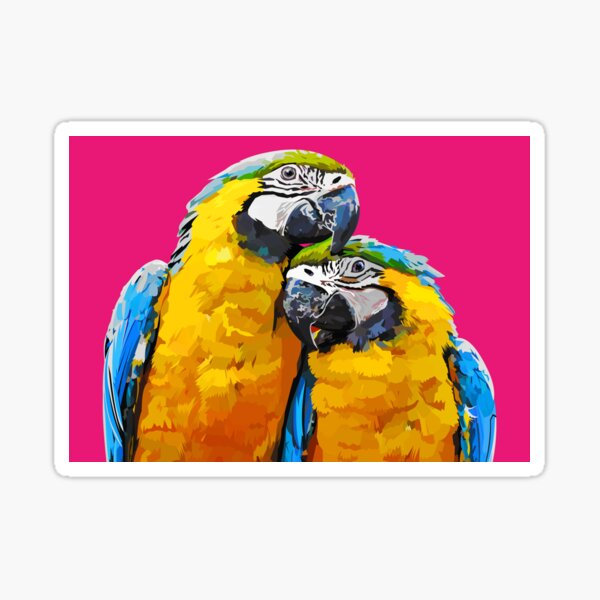 Two lovely parrots Sticker