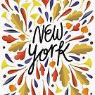 New York Calligraphy art by uzualsunday