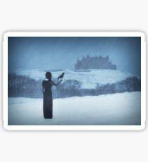 """Sleepwalking 2"" by Cat Burton Sticker"
