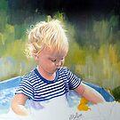 Teddies first bath .2 by Robert David Gellion