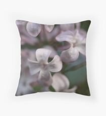 Lilac petals Throw Pillow