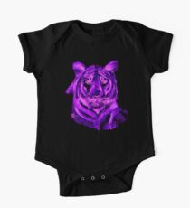 Purple tiger T SHIRT/STICKER Kids Clothes