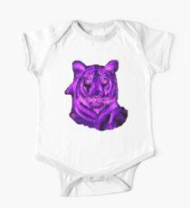 Purple tiger T SHIRT/STICKER One Piece - Short Sleeve