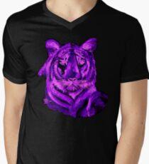 Purple tiger T SHIRT/STICKER Mens V-Neck T-Shirt