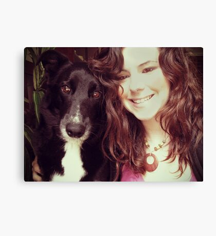 Me and My Pup Canvas Print