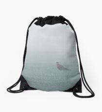 """""""The Pheasant And The Fog"""" by Cat Burton Drawstring Bag"""