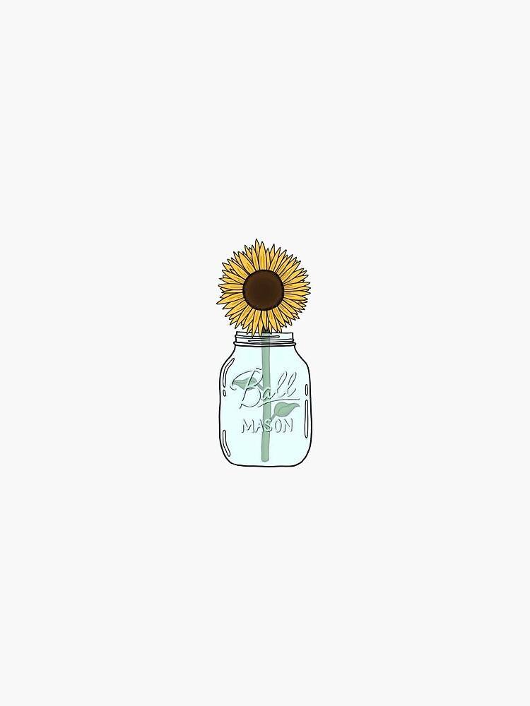 sunflower jar by mlstoutl