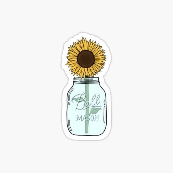 sunflower jar Sticker