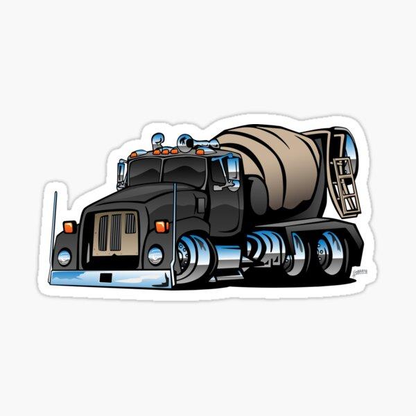 Cement Mixer Truck Sticker