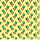 Watercolor Pineapples on Pastel Yellow by TimorousEclectc