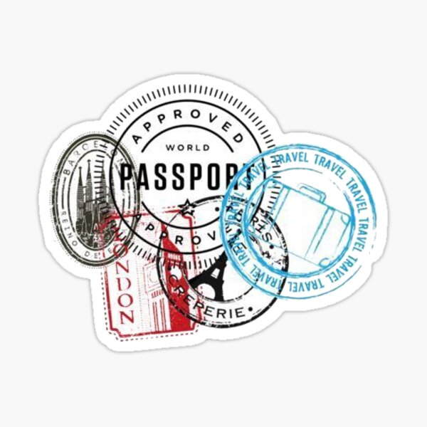 timbres de passeport Sticker