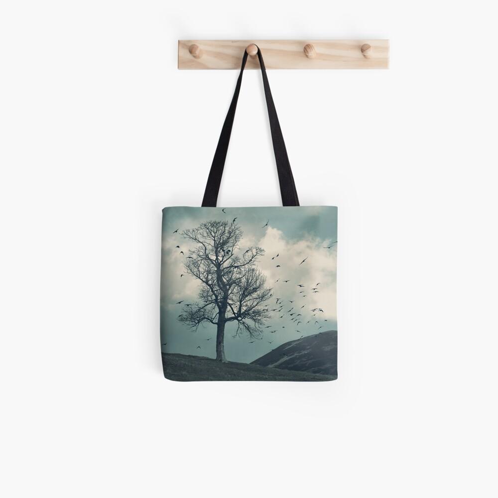 """The Flocking Tree"" by Cat Burton Tote Bag"