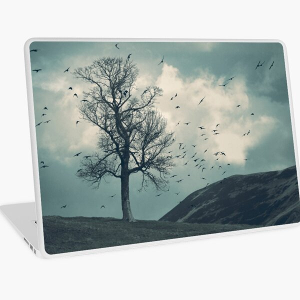"""The Flocking Tree"" by Cat Burton Laptop Skin"