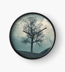 """The Flocking Tree"" by Cat Burton Clock"
