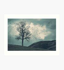 """The Flocking Tree"" by Cat Burton Art Print"