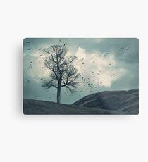 """The Flocking Tree"" by Cat Burton Metal Print"