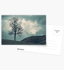 """The Flocking Tree"" by Cat Burton Postcards"