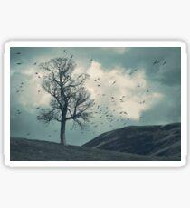 """The Flocking Tree"" by Cat Burton Sticker"