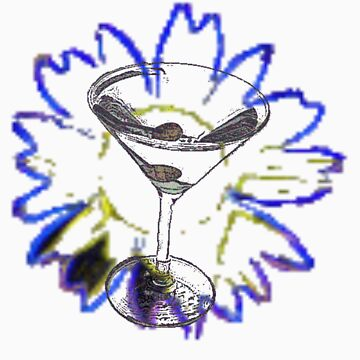 Martini Glass and Sunflower by fatgoose