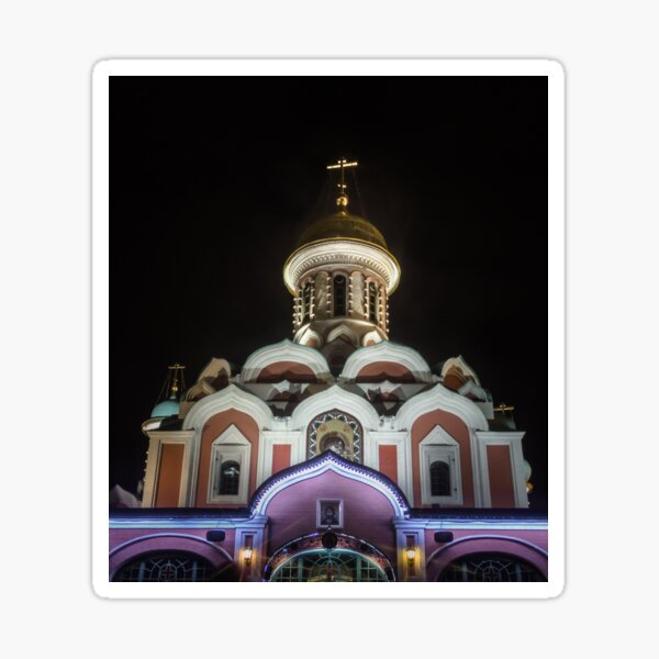 Kazan Cathedral,  Red Square, Moscow Sticker