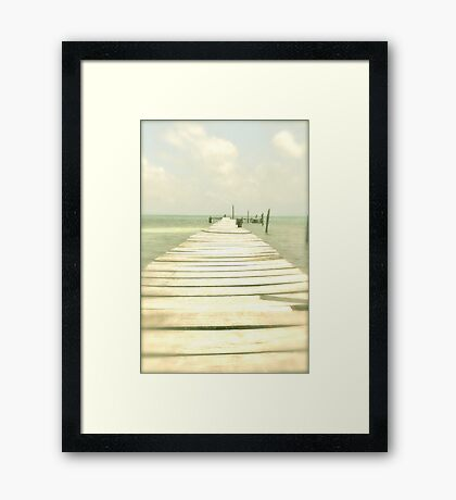 If you drop into the sea, you've gone too far... (or just enjoy!) Framed Print