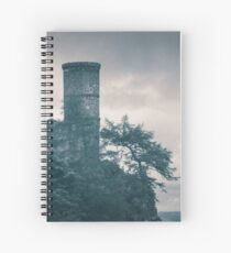 """""""The Tower Of Kinnoull Hill"""" by Cat Burton Spiral Notebook"""