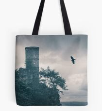 """The Tower Of Kinnoull Hill"" by Cat Burton Tote Bag"