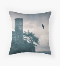"""""""The Tower Of Kinnoull Hill"""" by Cat Burton Throw Pillow"""